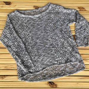 Sweaters - Thin Gray and White Shimmery Sweater